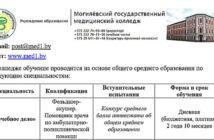 Могилёвский государственный медицинский колледж приглашает абитуриентов
